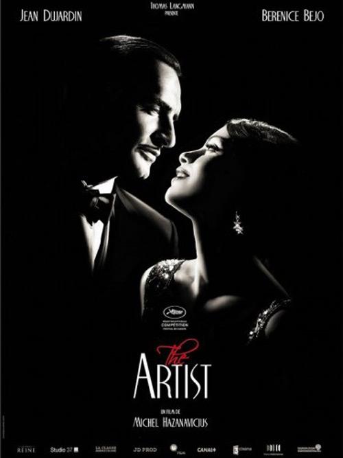 Il poster di The Artist, film d\'apertura di France Odeon