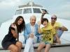 Foto di gruppo sullo yacht