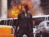 Scarlett Johansson in una scena di The Avengers